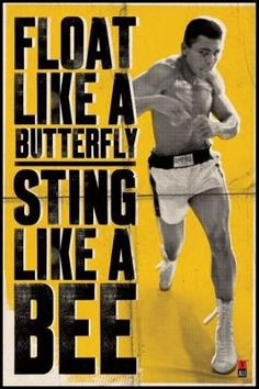 What Ali said is not just about boxing, it's often about life (particularly business). Think about it ...