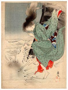 Lotto 00775 N.1 xilografia kuchi-e Eigyoku LA FIGLIA DELL'ARMATORE Anno: 1920 ca. Condizioni: discrete Dimensioni: 22 x 29,5 cm Woodblock Print, Daughter, My Daughter, Daughters