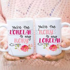 """mothers day from daughter """"you are the lorelai to my rory"""" tv shows gilmore girls mug, gilmore girls coffee mug, 11oz 15 oz mug gifts, MU117 by artRuss on Etsy https://www.etsy.com/listing/278937104/mothers-day-from-daughter-you-are-the"""