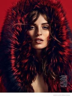 Actress Maria Valverde is in the spotlight for the December 2014 cover shoot from Marie Claire Spain.