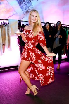 Street Stylin' at the Pink Ink Boutique unveiling: Jessica wears a dress from Rebel Muse