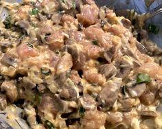 Kotleciki z kurczaka, pieczarek i sera - Blog z apetytem Pasta Salad, Poultry, Potato Salad, Potatoes, Chicken, Meat, Ethnic Recipes, Blog, Products