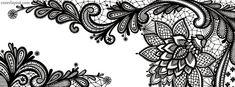 Black Lace Flower Facebook Cover coverlayout.com