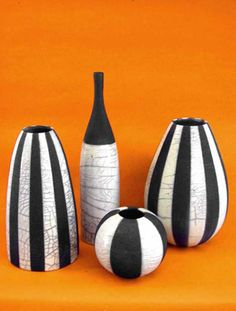 raku - straight lines, different bottle shapes. I like the tall, thin one.