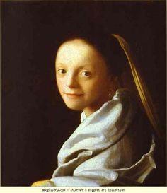 Jan Vermeer. Head of a Girl. Olga's Gallery.
