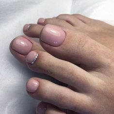 Pedicure Nail Designs, Manicure Y Pedicure, Toe Nail Designs, Pretty Toe Nails, Cute Toe Nails, Toe Nail Color, Nail Colors, Acrylic Toe Nails, Feet Nails