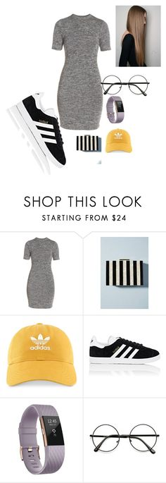 """""""Simple Day"""" by ashley-ploog on Polyvore featuring French Connection, Anthropologie, adidas and Fitbit"""