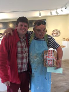 Me and David at Lacock Pottery, son of PM Sir Winston Churchill
