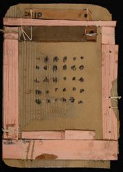Russell DeYoung, Upstate (pink & brown); cardboard, string. Carrie Haddad Gallery