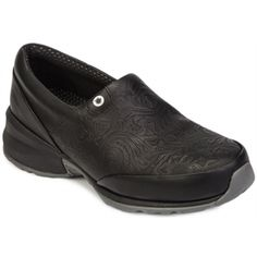 4a32190f05 Shop for Women's Akesso Professional Footwear Helia Tooled Black Leather.  Get free delivery at Overstock - Your Online Shoes Outlet Store!