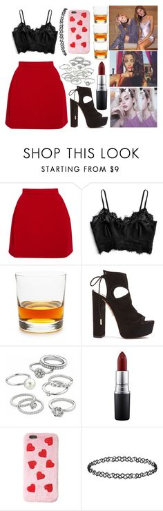 """party whit this girls"" by luhemmings ❤ liked on Polyvore featuring Delpozo, Schott Zwiesel, Aquazzura, Candie's, MAC Cosmetics, Dorothy Perkins, taylorhill, sagetullis and katieschmid"