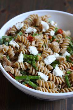 Asparagus & Goat Cheese Pasta Salad