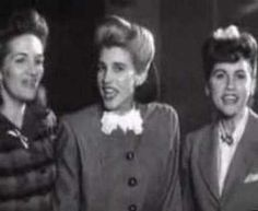 Andrews Sisters - Boogie Woogie Bugle Boy (Of Company B). This is the song they will always be remembered for singing.
