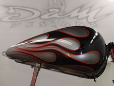 Motorcycle Paint, Chopper Motorcycle, Bobber Chopper, Vintage Style, Vintage Fashion, Candy Red, Custom Paint Jobs, Pinstriping, Bike Art