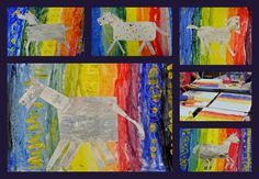 Het paard van de Sint krijgt een nieuwe stal. Art Lessons, Seasons, Painting, Seasons Of The Year, Painting Art, Paintings