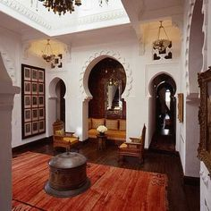 Villa en Tunisie - Mediterranean family room