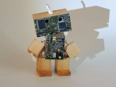 Wooden PCB Robot by WoodPlaneAndSimple on Etsy