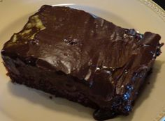 Mom's Chocolate Decadent Cake. This just sounded wonderful. I will have to try this.