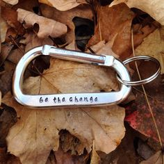 Personalized carabiner / custom engraved by wishingwillowmetal