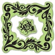60-60003 rose frame cling stamp