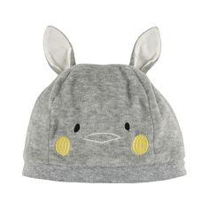 Velvet rabbit hat - Light grey