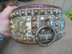 Antique Vintage HUGE Show Quality Circus Studded Dog Collar