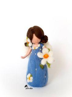 primavera de hadas en luz azul hadas flores colección de