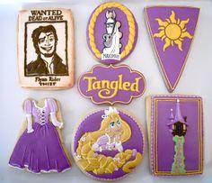 Tangled ~ Rapunzel ~    .Oh Sugar Events: Rapunzel Cookies