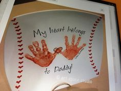 Cute handprint gift idea for daddy from Drew.
