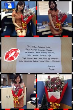 Happy Valentine's Day #2014  Flower from hubby in Samarinda with love