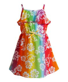 Rainbow Floral Ruffle Dress - Infant, Toddler & Girls by Youngland #zulily #zulilyfinds