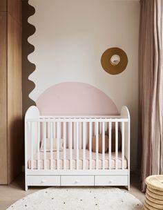 Jenna and Josh Densten's Dreamy New Family Home Vintage Dining Chairs, Vintage Sofa, Nursery Room, Baby Room, Bedroom, Douglas And Bec, Diy Blinds, Kids Artwork, School Design