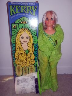 MINTY PRISTINE Ideal Kerry Doll in box with Factory Paperwork Brush Crissy family