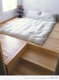 bed interior design floor bed bedroom furniture interior design sunken bed into floor hidden heating and storage space architecture Interior Design Minimalist, Minimalist Bedroom, Minimalist Apartment, Minimalist Living, Modern Interior, Japanese Interior, Minimalist Kitchen, Minimalist Decor, Minimalist Furniture