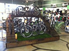 Customizing Your Bicycle Rims Mountain Bike Shop, Mountain Biking, Recycled Bike Parts, Office Wall Design, Bicycle Store, Bicycle Rims, Adventure Center, Bike Room, Steel Rims