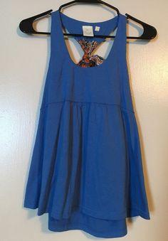 Anthropologie Eloise Women's Blue Sleeveless Top Size Small #EByEloise #Blouse