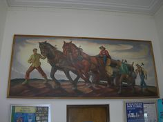 Post office mural, Indiana