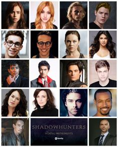 The Mortal Instruments Movie Cast .&. the Shadowhunters Tv Series Cast Our Jocelyn doesn't look to different. I loved all but the movie valentine in the movie! I like our characters for the tv series but I will miss Lily Collins and Jamie.
