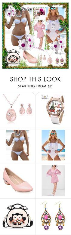 """Halter Shell Bikini Set"" by ane-twist ❤ liked on Polyvore"