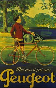 old poster-ad for Peugeot cars and bikes | Flickr - Photo Sharing!