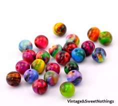 CA 50 pcs Bubble Pop Electric Swirl Beads 14mm . Starting at $5 on Tophatter.com! Come join the fun!