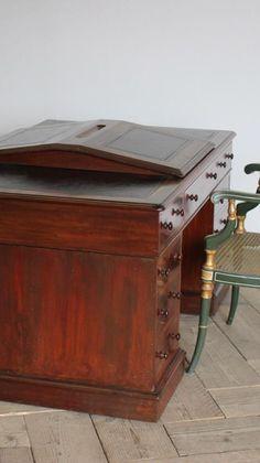 Antique Desk, Antique Furniture, Partners Desk, Interior Design Tips, 19th Century, Antiques, Antiquities, Antique Writing Desk, Antique