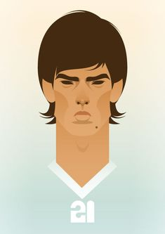 World's Greatest Footballers By Stanley Chow Creative Illustration, Digital Illustration, Graphic Illustration, Sports Images, Sports Art, Football Art, Football Players, Stanley Chow, Create A Comic