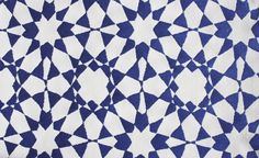 Torre Outdoor Fabric A durable geometric style fabric in blue on white suitable for in and outdoor domestic upholstery and curtains.