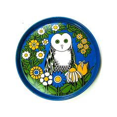 Owl tray by Pat Albeck