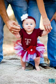Baby pictures should always include your favorite school! @Texas A University #gigem #aggies
