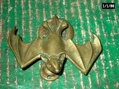 Antique Bat Brass Door Knocker England