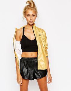 Image 1 ofPuma Gold Collection Metallic Windbreaker Jacket