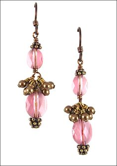 Vintage Twist Swarovski Earrings | Jewelry Design Ideas