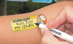 temporary tattoos for food allergies